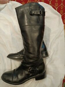 Lones freeflex Ladies Black Knee High Low Heels Long  Boots Shoes Size 38 UK 5
