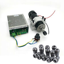 ER11 CNC 500W Air Cooling Spindle Motor +52mm Clamps+Speed Governor 12000r/min