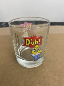 do'h! glass cup the simpsons 2004 Homer Simpson