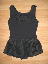 Girls Gymnastics-Dance-Tumbling-Skating Skate Costume-Glitter Skirt-Dress-XS-4-5