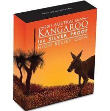 2011 Australian Kanagaroo 1oz Silver Proof High Relief Coin