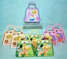 Lot 8 Mini TINS Purse Party COLLECT Disney Cinderella HELLO Kitty TINKERBELL New