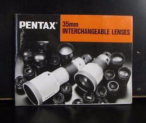 PENTAX Smc Un Intercambiable Lente Sistema Guía 45 Páginas 1983 B00132