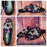 Circus Sam Edelman Slip On Mules Shoes Cicada Bug Rhinestone Stars NEW $140.00