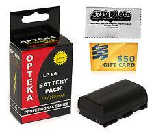 LP-E6 Lithium Battery for Canon EOS 70D 6D 7D 5D 60Da 60D 3347B001 LPE6 2600 mAh