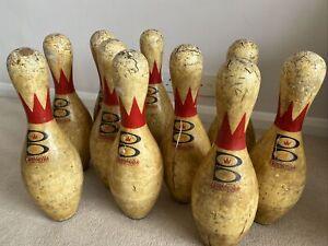 Vintage Brunswick Score King ten pin bowling skittle - door stop man cave - used