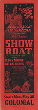 "Jerome Kern ""SHOW BOAT"" Irene Dunne / Paul Robeson 1936 Chicago Promo Bookmark"