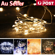 2-10 M Battery Powered LED Copper Wire String Fairy Xmas Party Lights Warm White