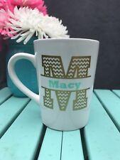 Personalized Chevron Monogram Coffee Mug - Great Birthday Gift FREE SHIPPIN
