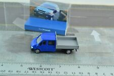 Rietze Ford Transit Pick Up Truck Double Cabin Blue 1:87 Scale HO