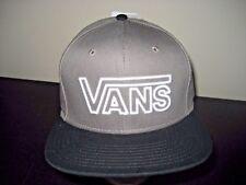 Vans Shoes Drop V Outline Logo Black Grey White Snapback Hat Cap Free Ship NWT