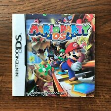 Mario Party DS Nintendo DS Gameboy Instruction Manual Only