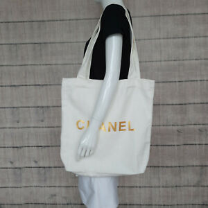 CHANEL Beaute VIP GIFT NEW  Big Ivory White Tote Bag Boxed