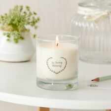 'In Loving Memory' Simple Remembrance Candle - Perfect for Funeral Memory Table