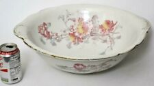 More details for antique doulton of burslem, england peony pattern wash bowl [1444a]