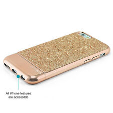 "Prodigee Sparkle Rose Pink iPhone 6 4.7"" Gold Glitter Slim Case Cover"