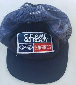 Ford Engines C.E.P. #1 Q1 Ready Hat Cap Patch Vintage New Era Mesh Back
