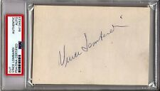 """VINCE LOMBARDI Signed Slabbed Index Card """"GREEN BAY PACKERS"""" PSA/DNA #84134523"""