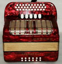 HOHNER CORONA III RS G-C-F 3 Row Button Accordion Akkordeon 5 Switch Excellent