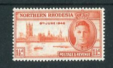 Northern Rhodesia KGVI 1946 Victory 1.5d red-orange p13.5 SG46a MNH