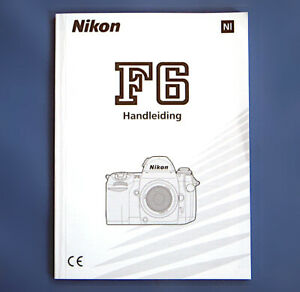 Nikon F6 Handleiding, Gebrauchsanweisung, instruction manual: Netherlands NL