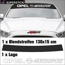 Opel Opel-Logo Motorsport + Blendstreifen (130x15cm) ca. cm Aufkleber Sticker Tu