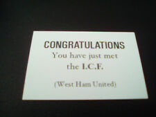 Original West Ham ICF calling cards from the 80s Carlton Leach Inter City Firm