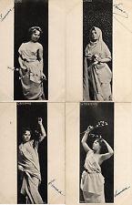 4 CPA photo ERNST les 4 saisons femmes art nouveau dans le gout de MUCHA 1902 TB