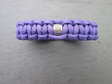 Púrpura pulsera paracord con un grano Zodíaco, varios colores disponibles