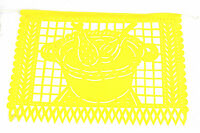 Set of three (3) party fiesta theme Mexican papel picado banners bunting plastic