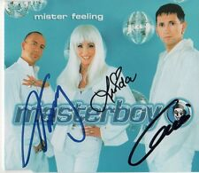 "Masterboy AUTOGRAFI SIGNED CD-Cover ""MISTER feeling"""
