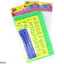 Artbox 4 Set Pochoir Alphabet Lettres Artisanat Chiffres Signe Lettrage Texte