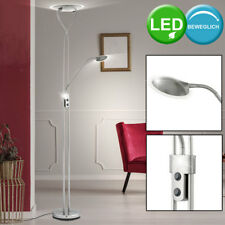 LED Stand Lese Lampe 24 Watt Decken Fluter Spot Strahler Wohnzimmer Steh Leuchte