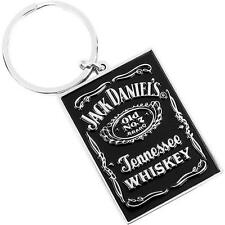 Jack Daniels - Old No.7 Brand Polished Cast Metal Key Ring - New & Official
