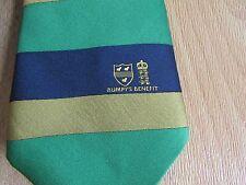 BUMPY'S Benefit Year England & Unknown Motif CRICKET Player Tie