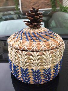 Hand made Pine needle basket