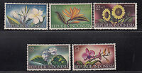 Indonesia 1957 Flowers  Sc B104-B108  complete Mint Never Hinged