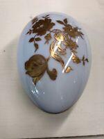 Vintage Antique Limoges France Gilded Egg Trinket Box