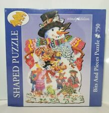 BITS AND PIECES 750 PIECE JIGSAW PUZZLE WENDY EDELSON SNOWMAN  NIB