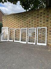 More details for job lot of 6 reclaimed leaded light panel wooden windows