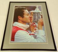 John McEnroe Kissing Trophy Framed 11x14 Photo Display