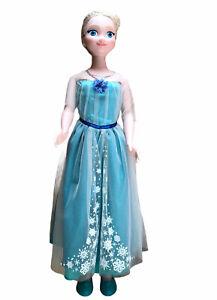 """Disney Princess My Size Elsa 38"""" Life Size Frozen Doll 3 Feet Tall Jakks Pacific"""
