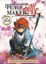 DVD JAPANESE ANIME Peace Maker Kurogane Vol.1-24End English Sub Region All