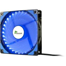Lüfter 120mm PC Computer Gehäuselüfter Fluid-Gleitlager Spiraleffekt LED blau