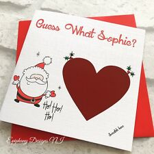 Personalised Christmas Card, Scratch To Reveal, Lapland Surprise, Santa