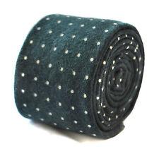 Frederick Thomas negro y pin Puntos Terciopelo Estilo Corbata ft1905