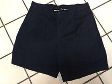 NIKE GOLF Navy Blue Cotton  Pleated Golf Shorts Mens 36 W