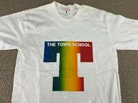 The Town School Shirt New York City Collegiate Pacific Elementary White 80s VTG