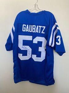 Dennis Gaubatz Signed Baltimore Colts Jersey Beckett BAS COA LSU Tigers Auto