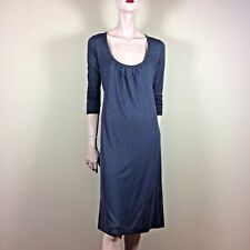 MORE & MORE Kleid M 38 Grau Jersey Shirt Dress Casual Style Großer Ausschnitt